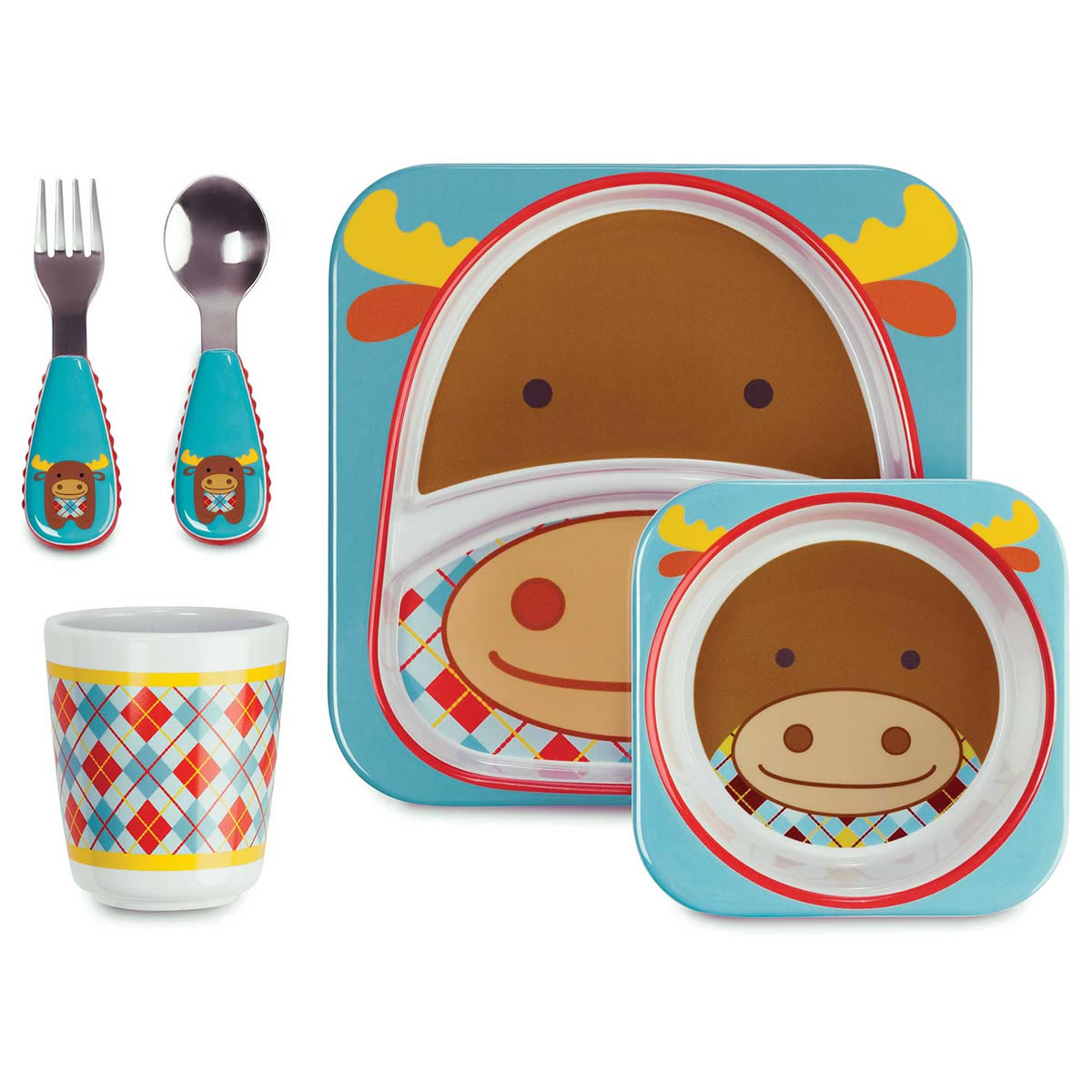 ITEM# 212511  sc 1 st  Albee Baby & Skip Hop Zoo Tableware Gift Set - Moose