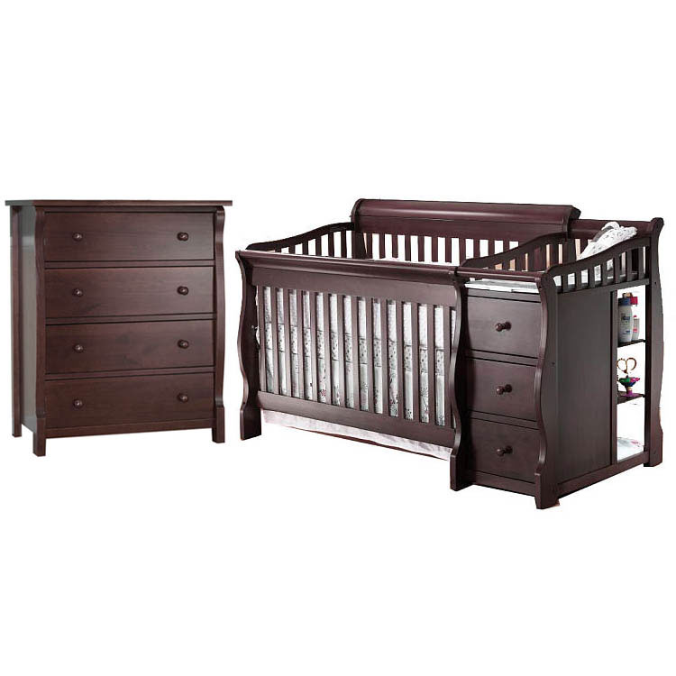 Sorelle Tuscany 2 Piece Nursery Set in Espresso - Crib & ...