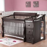 Sorelle Tuscany 4 in 1 Convertible Crib Combo in Espresso