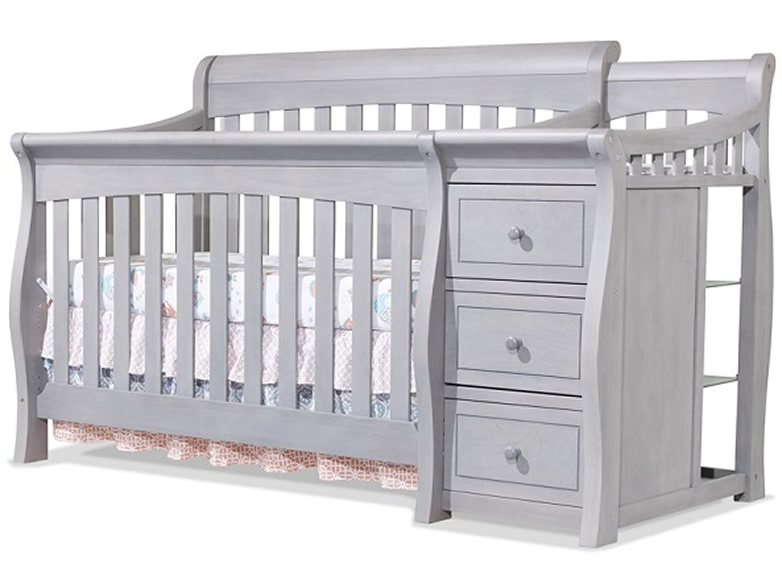 Sorelle Tuscany 4 in 1 Convertible Crib Combo in Weathere...