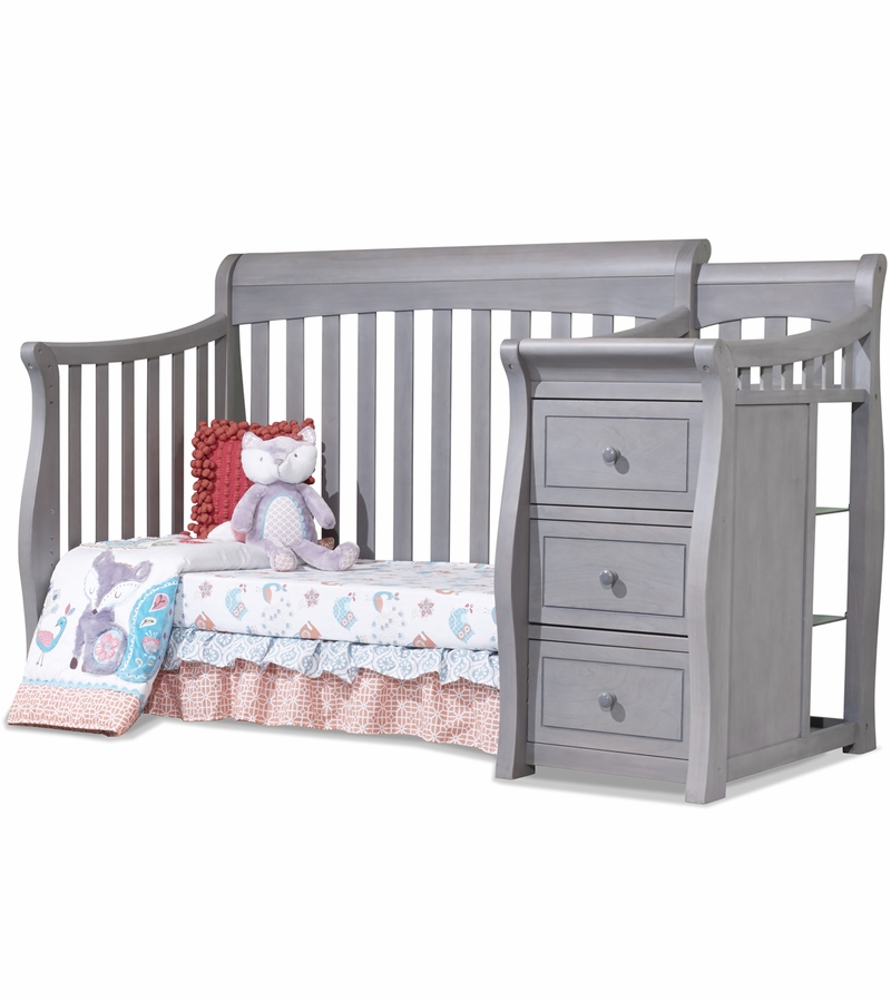 Sorelle Tuscany 4 In 1 Convertible Crib Combo In Weathered