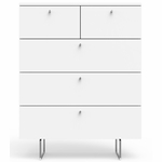 Spot On Square Alto 5 Drawer Dresser - White