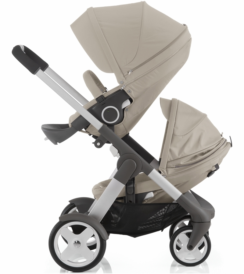 stokke crusi double stroller beige. Black Bedroom Furniture Sets. Home Design Ideas