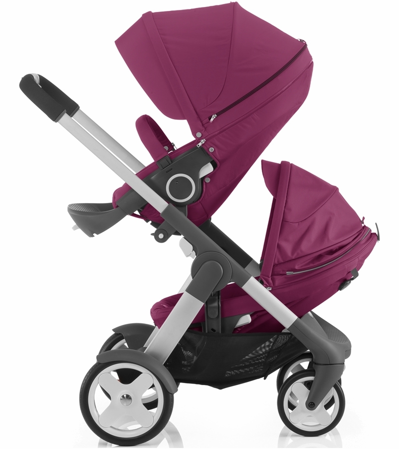 stokke crusi double stroller purple. Black Bedroom Furniture Sets. Home Design Ideas