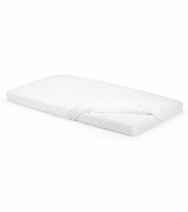 Stokke home bed fitted sheet set of 2 white How to put a fitted sheet on a bed