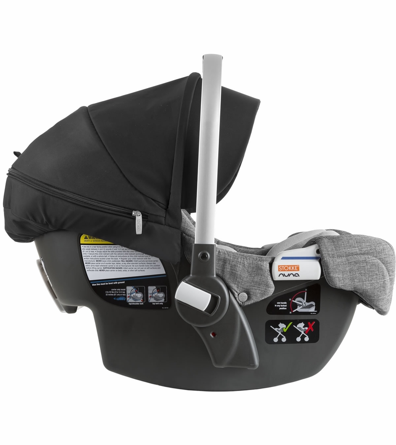 stokke pipa infant car seat by nuna black black melange. Black Bedroom Furniture Sets. Home Design Ideas
