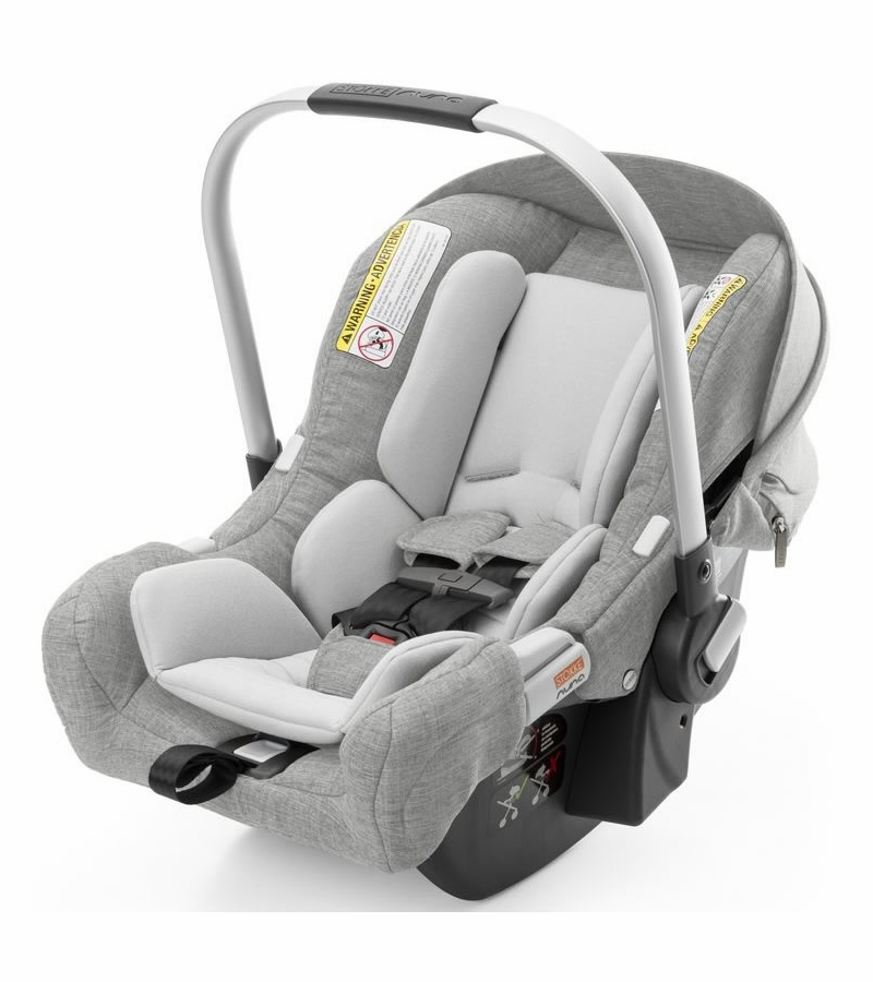 stokke pipa infant car seat by nuna grey melange. Black Bedroom Furniture Sets. Home Design Ideas