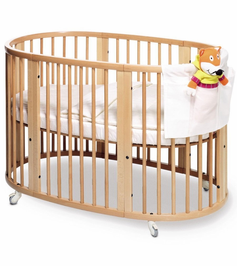 stokke sleepi crib natural. Black Bedroom Furniture Sets. Home Design Ideas