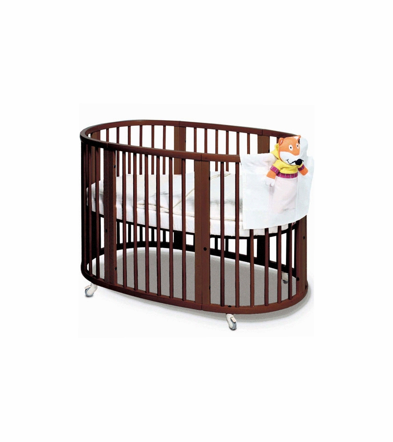 stokke sleepi crib in walnut. Black Bedroom Furniture Sets. Home Design Ideas