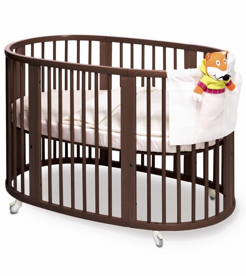 stokke sleepi crib walnut. Black Bedroom Furniture Sets. Home Design Ideas
