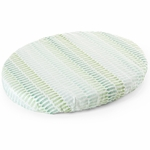 Stokke Sleepi Mini Fitted Sheet - Aqua Straw