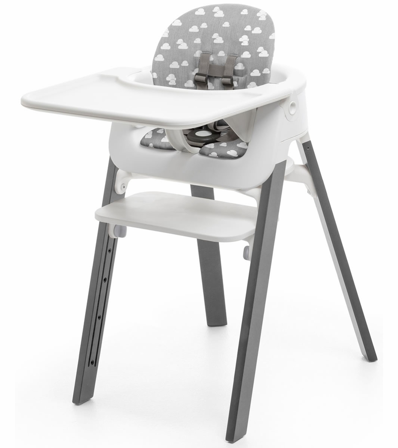 stokke steps baby set cushion grey clouds. Black Bedroom Furniture Sets. Home Design Ideas