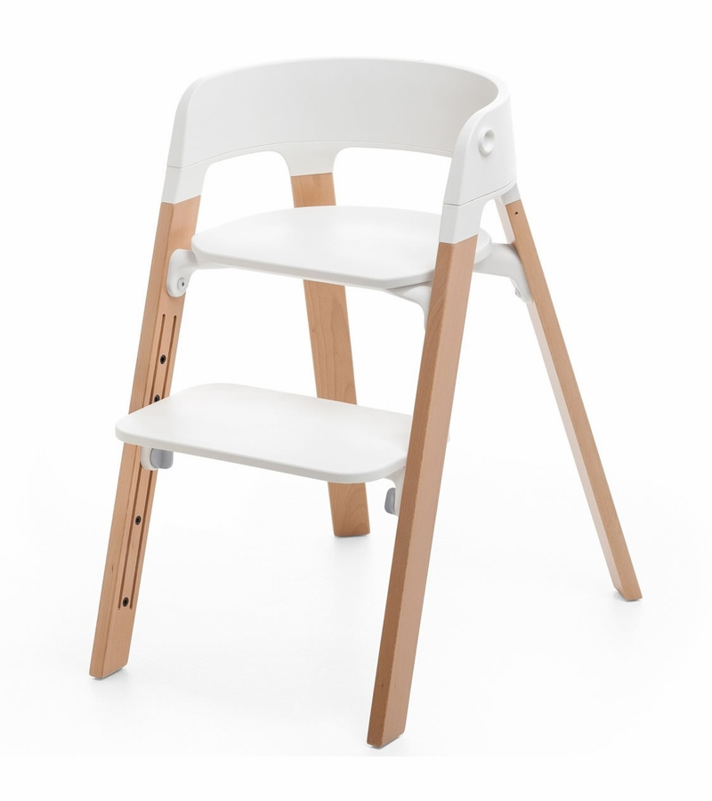 Stokke steps chair natural for Chaise haute stokke prix