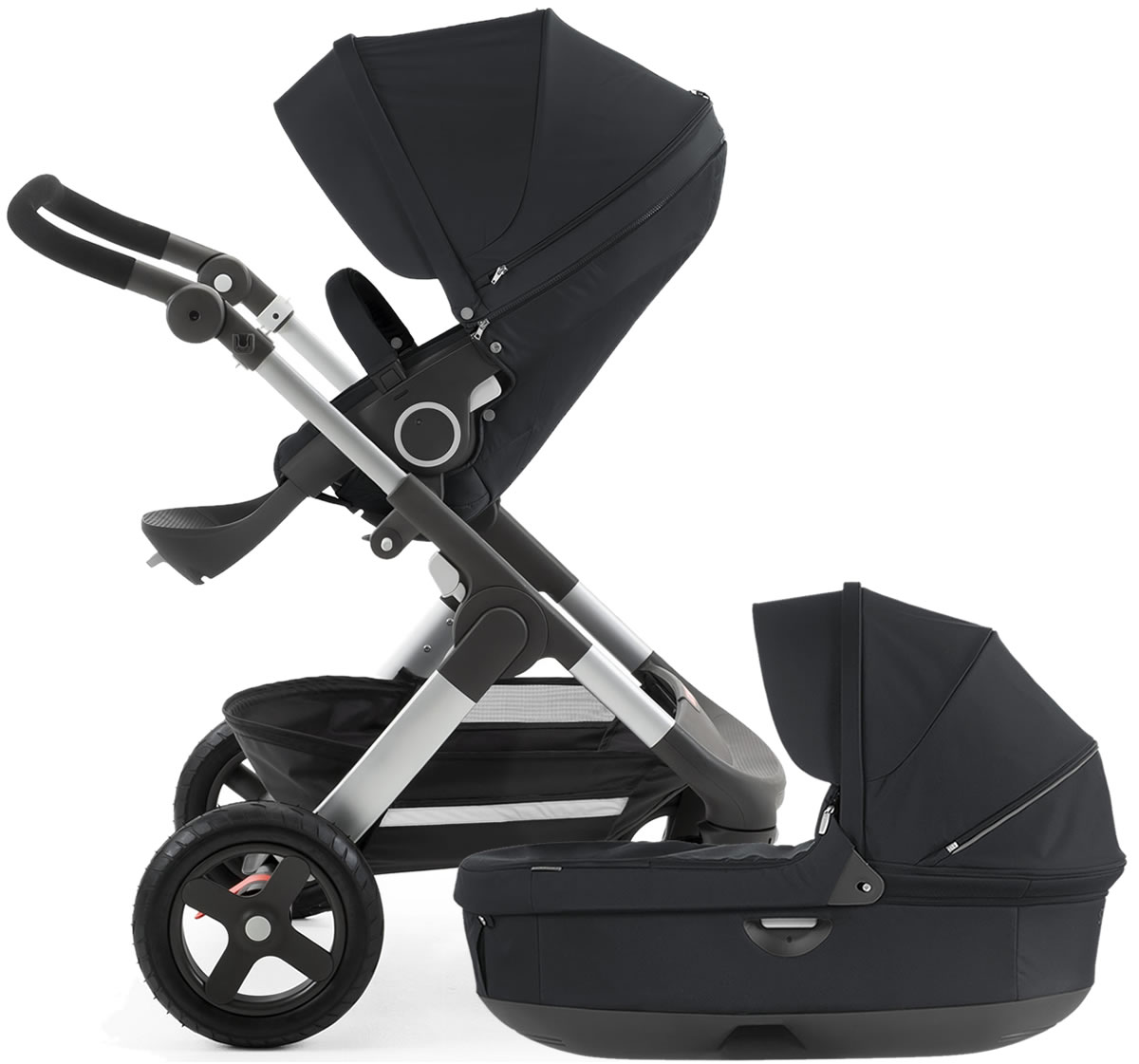 Stokke Trailz Stroller & Carrycot - Black
