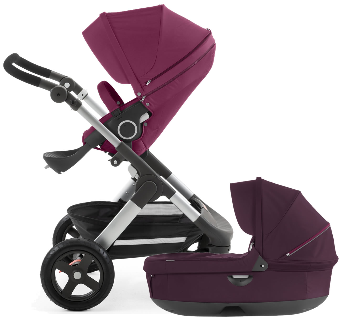 Stokke Trailz Stroller & Carrycot - Purple