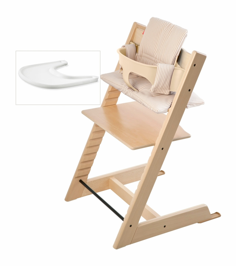 Stokke tripp trapp bundle natural beige stripe for Stokke usato tripp trapp