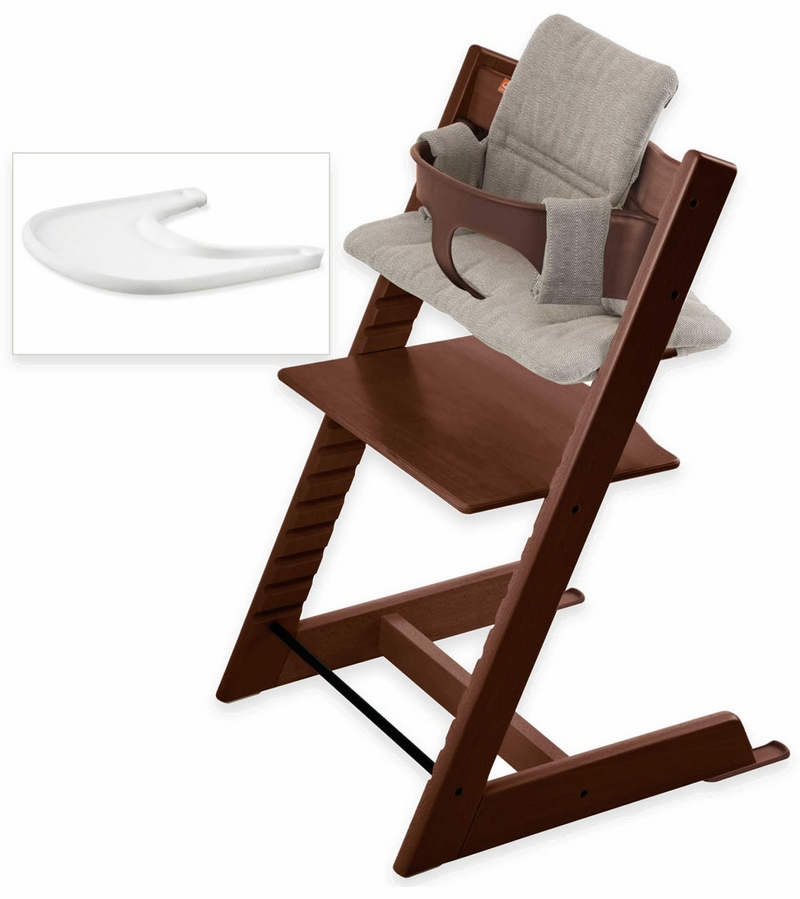 stokke tripp trapp bundle walnut hazy tweed. Black Bedroom Furniture Sets. Home Design Ideas