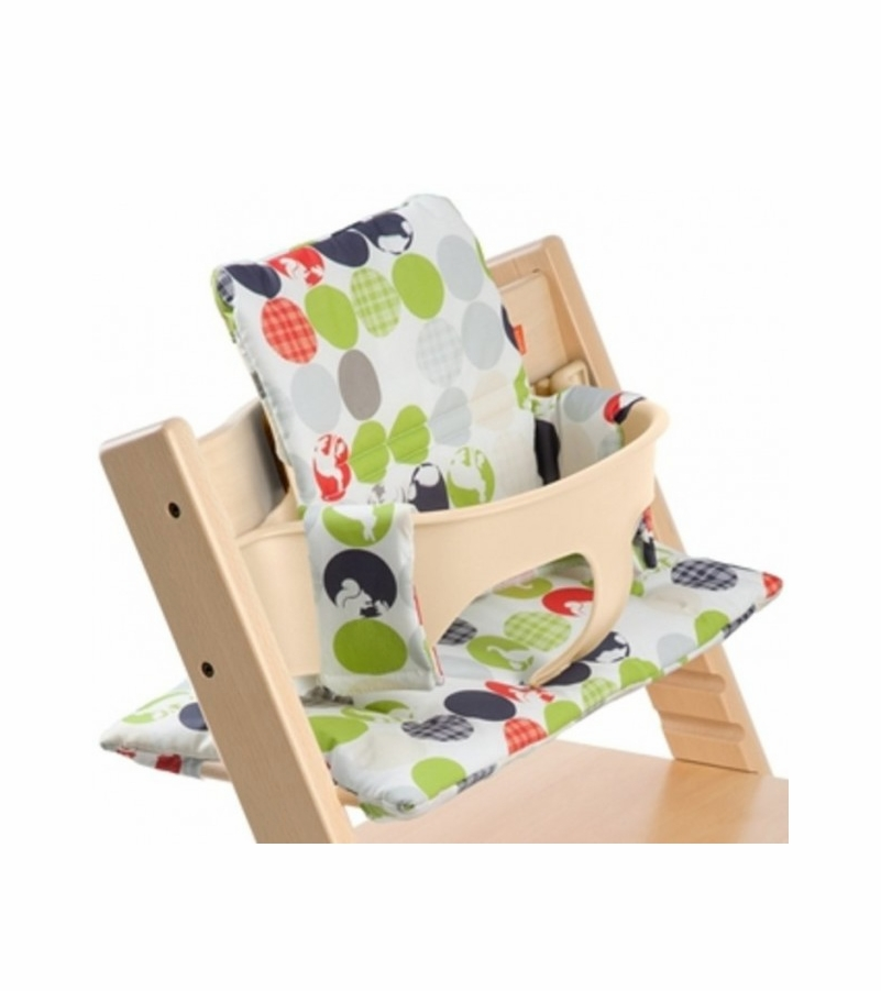 Stokke tripp trapp cushion in silhouette green for Cinture stokke tripp trapp
