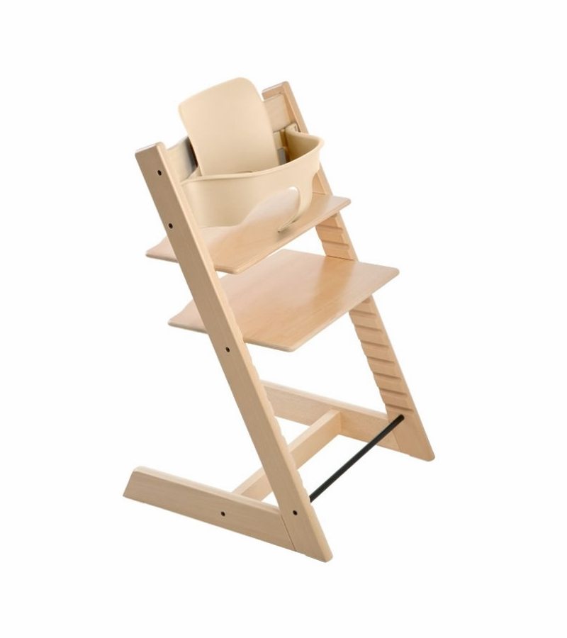 Stokke tripp trapp high chair baby set natural for Stokke usato tripp trapp