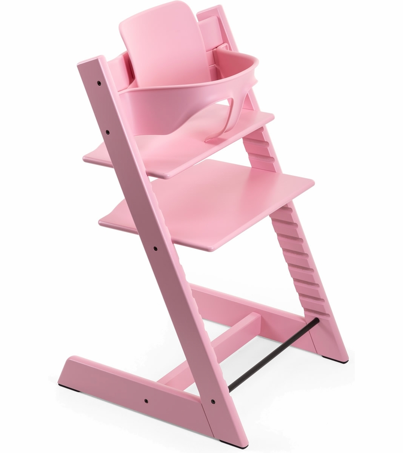 stokke tripp trapp high chair baby set soft pink. Black Bedroom Furniture Sets. Home Design Ideas