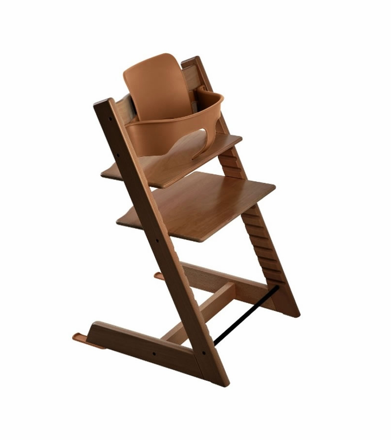 stokke tripp trapp high chair baby set walnut. Black Bedroom Furniture Sets. Home Design Ideas