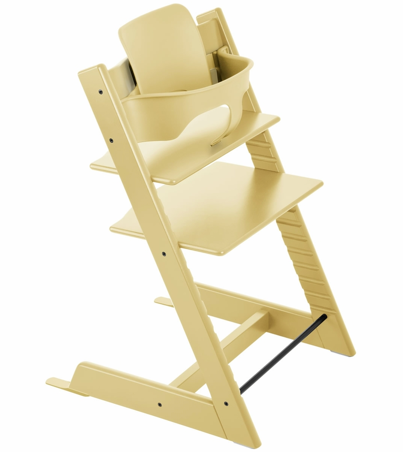 stokke tripp trapp high chair baby set wheat yellow. Black Bedroom Furniture Sets. Home Design Ideas