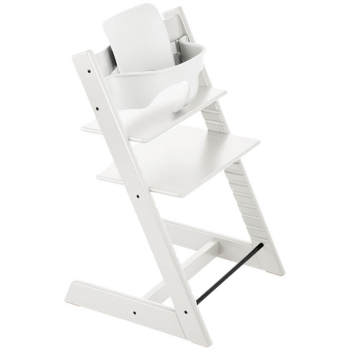 stokke tripp trapp high chair baby set white. Black Bedroom Furniture Sets. Home Design Ideas