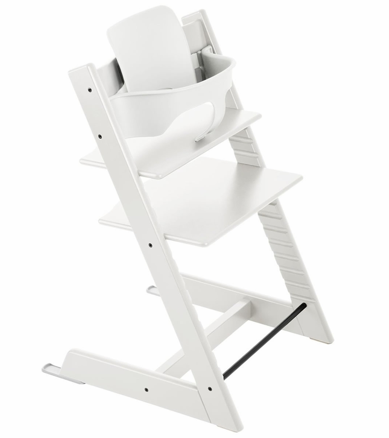 Stokke tripp trapp high chair baby set white for Cinture stokke tripp trapp