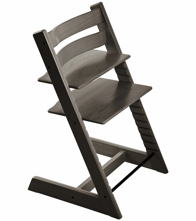 Stokke tripp trapp high chair in hazy grey for Stokke usato tripp trapp