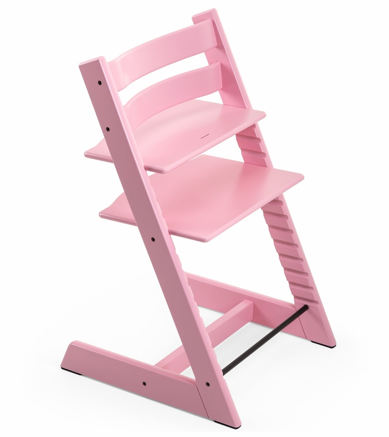 stokke tripp trapp high chair in soft pink. Black Bedroom Furniture Sets. Home Design Ideas