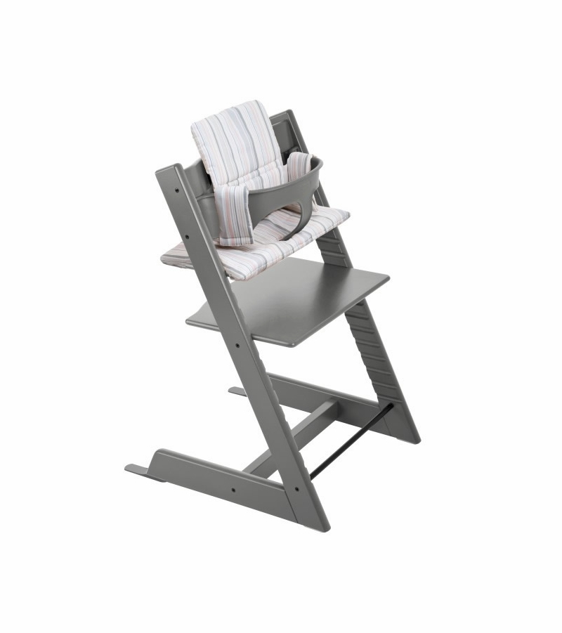 Stokke tripp trapp high chair storm grey for Cinture stokke tripp trapp