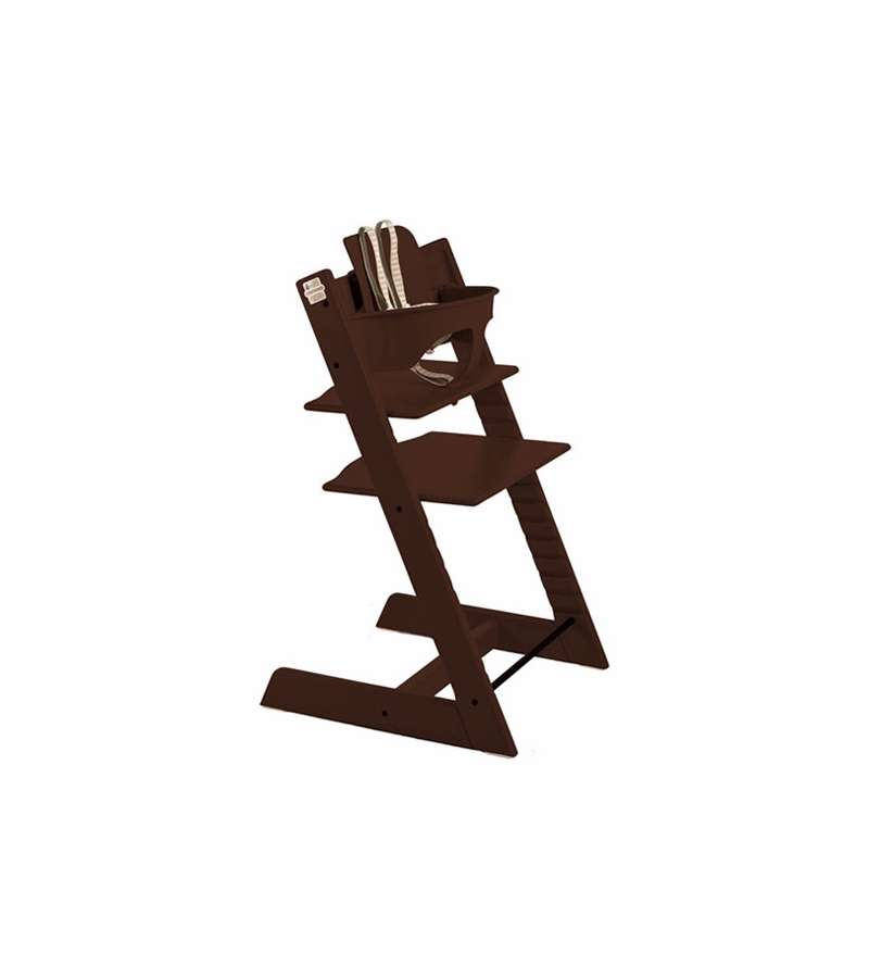stokke tripp trapp high chair in walnut. Black Bedroom Furniture Sets. Home Design Ideas