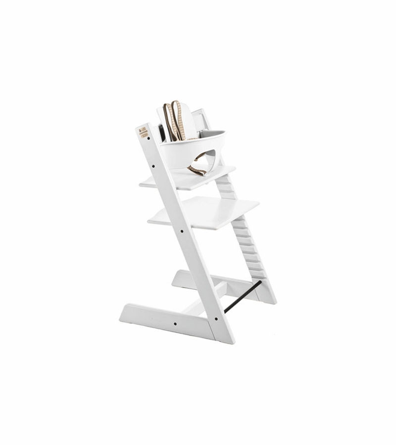 stokke tripp trapp high chair in white. Black Bedroom Furniture Sets. Home Design Ideas