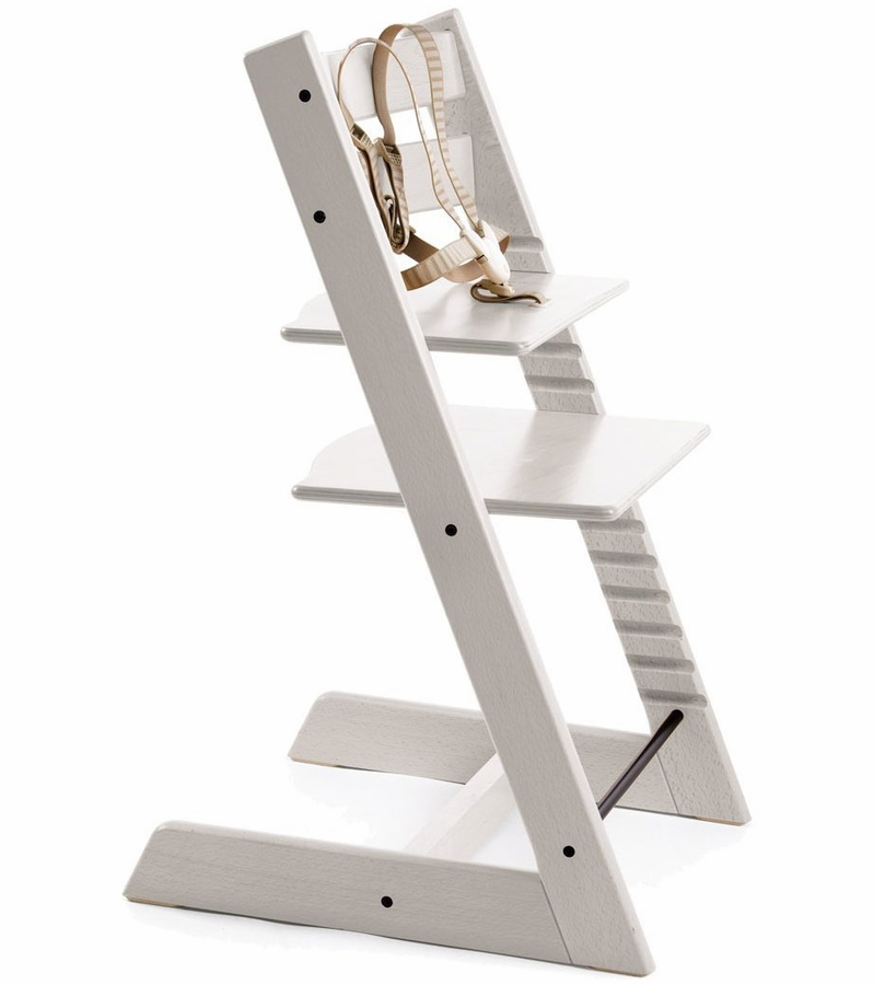 Stokke tripp trapp high chair in white for Cinture stokke tripp trapp