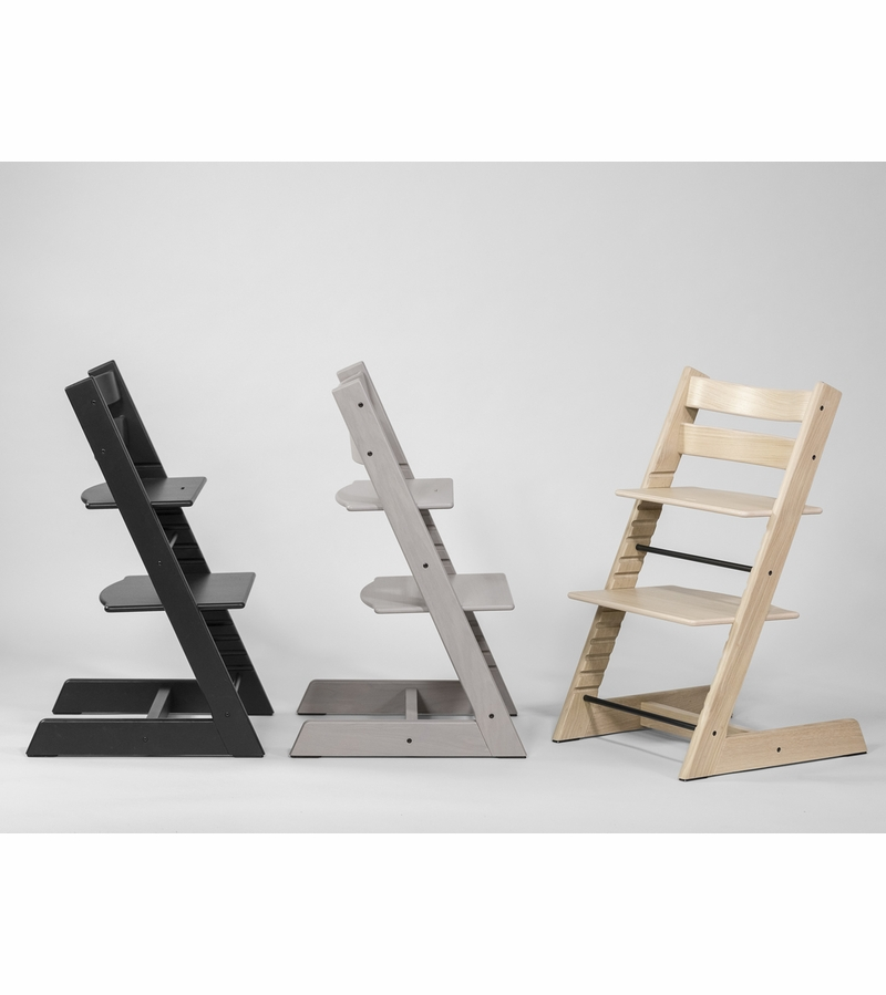 stokke tripp trapp oak high chairs. Black Bedroom Furniture Sets. Home Design Ideas