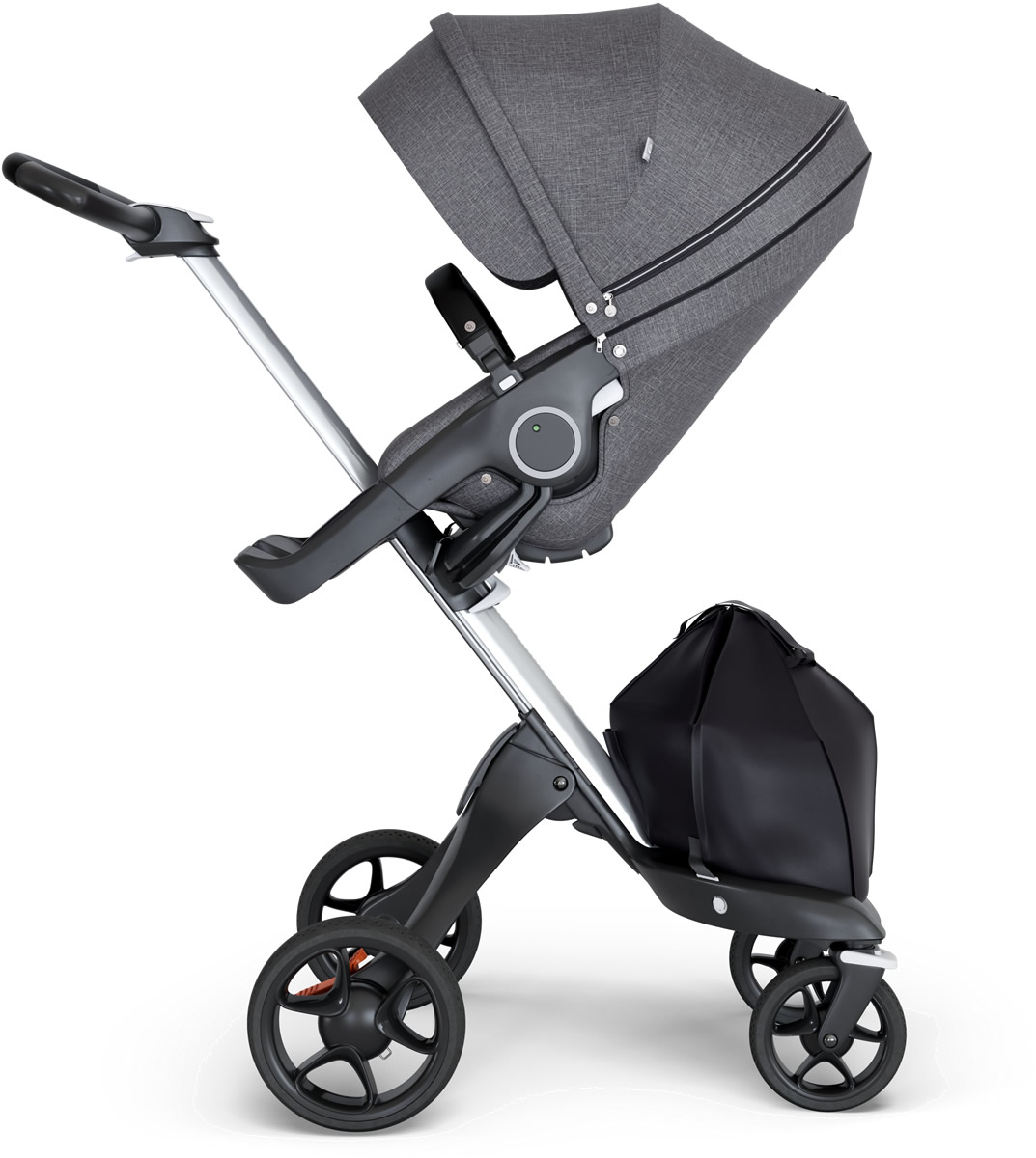 Stokke Xplory® Silver Chassis Stroller