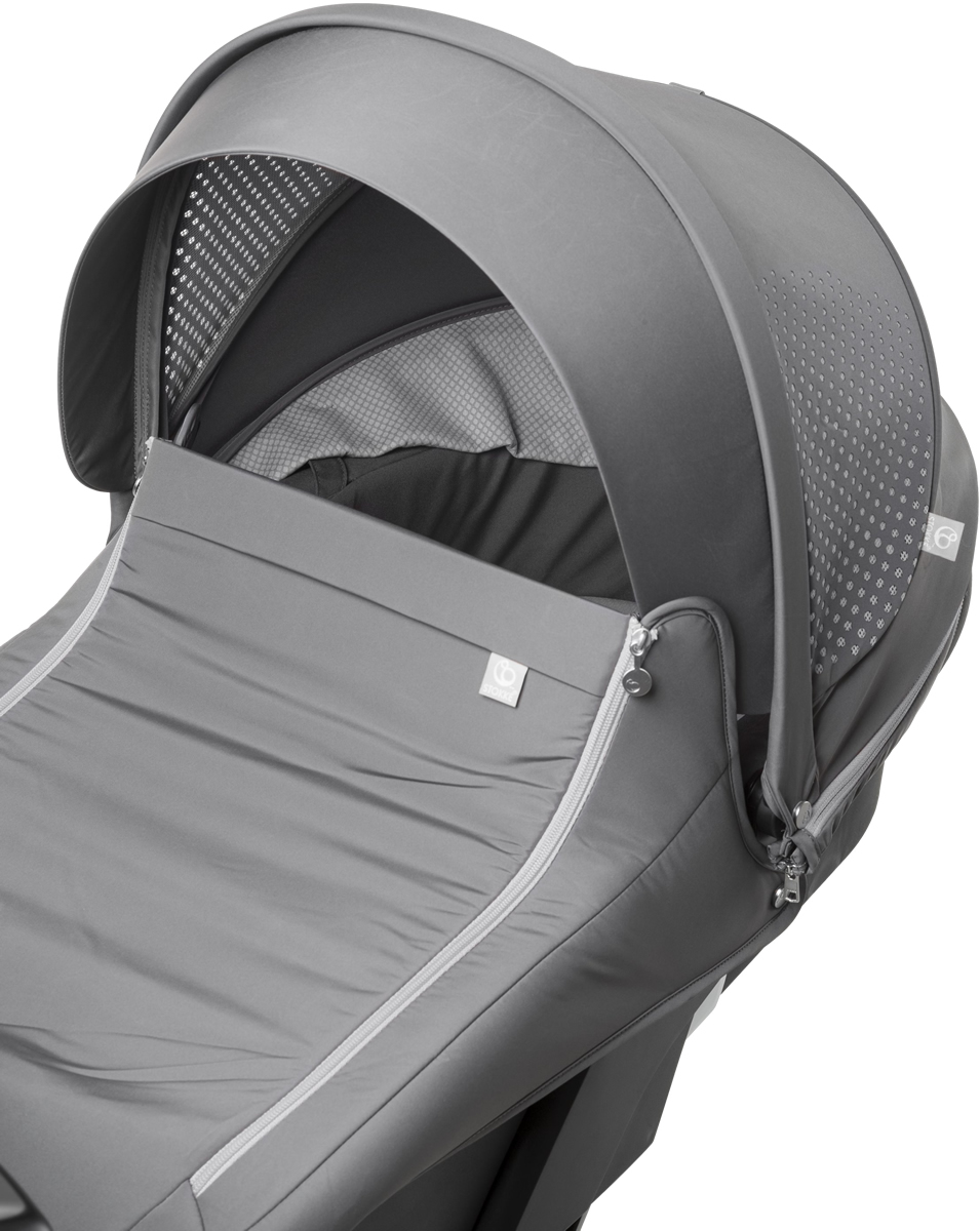 Stokke Xplory Athleisure Carry Cot Complete Kit - Black/Grey