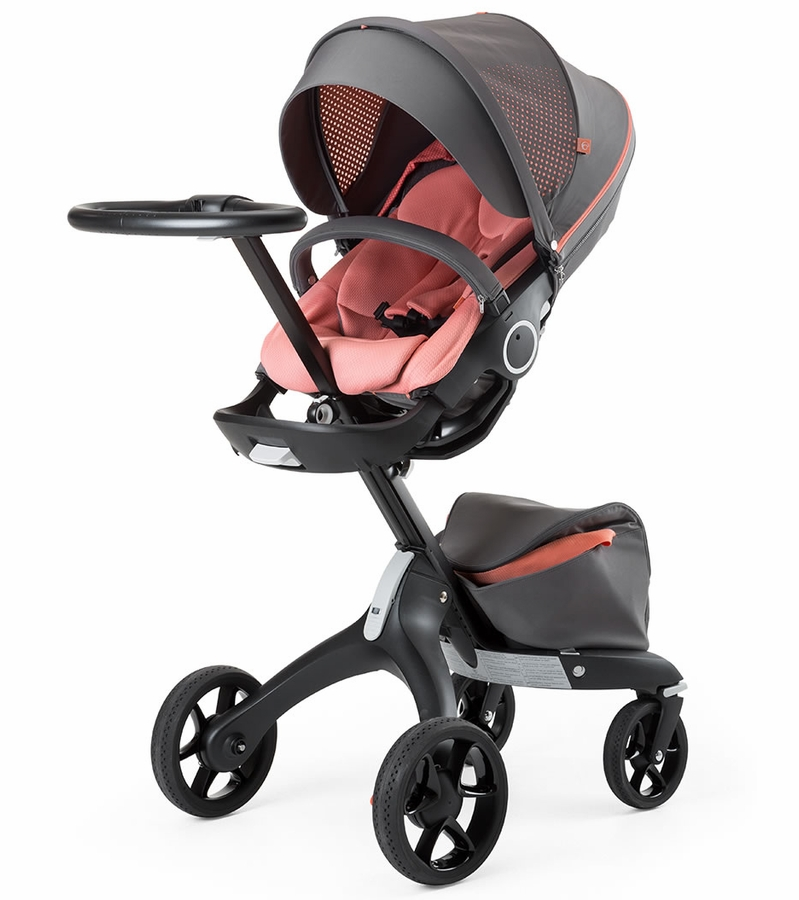 stokke v5 xplory athleisure stroller coral. Black Bedroom Furniture Sets. Home Design Ideas