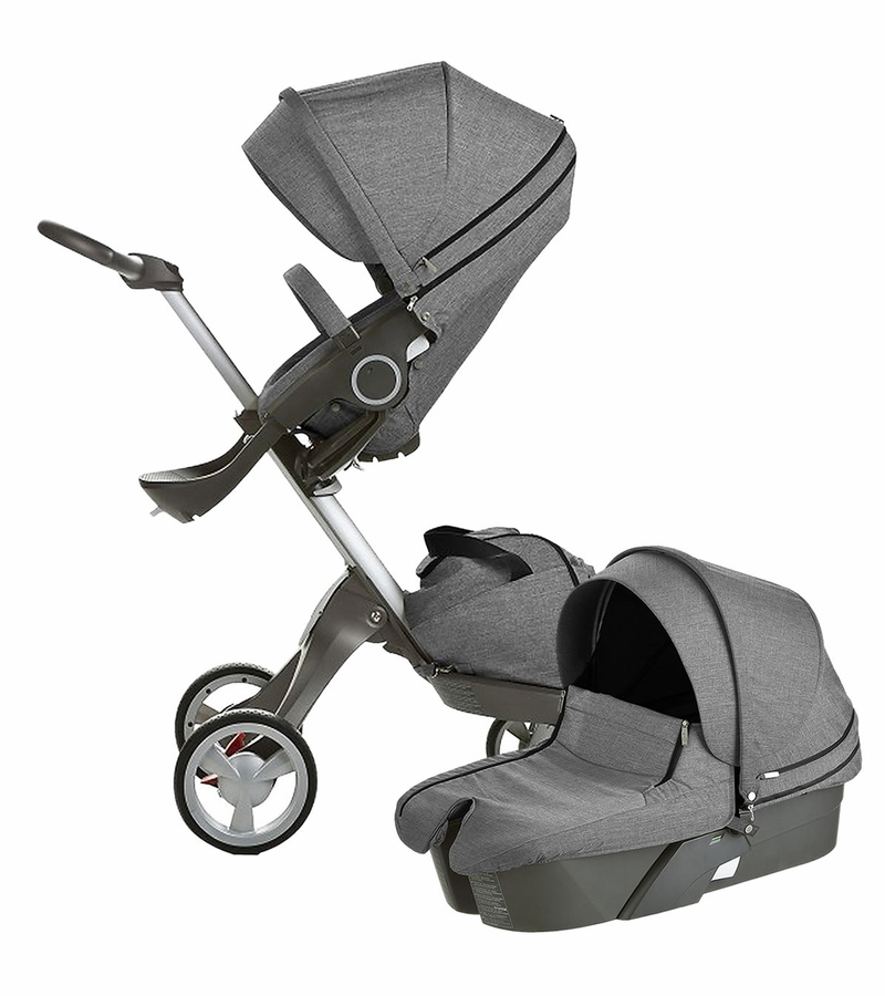 stokke xplory newborn stroller black melange. Black Bedroom Furniture Sets. Home Design Ideas