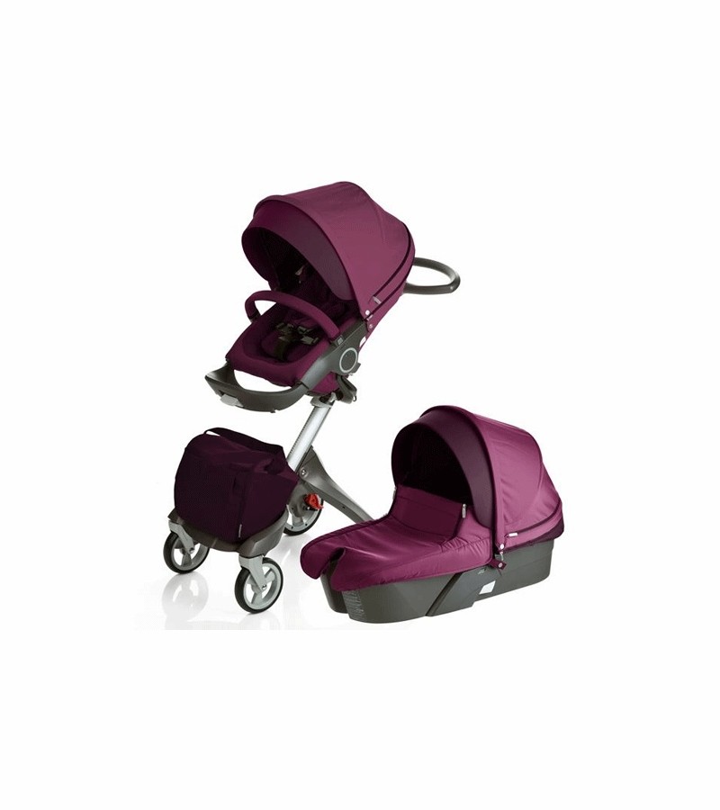stokke xplory newborn stroller in purple. Black Bedroom Furniture Sets. Home Design Ideas