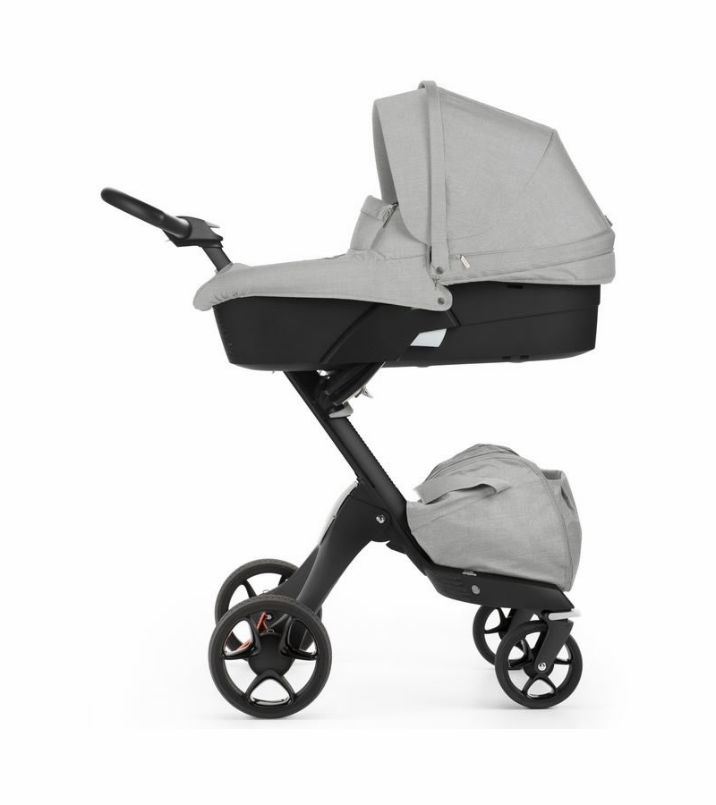 stokke v5 xplory stroller black grey melange. Black Bedroom Furniture Sets. Home Design Ideas