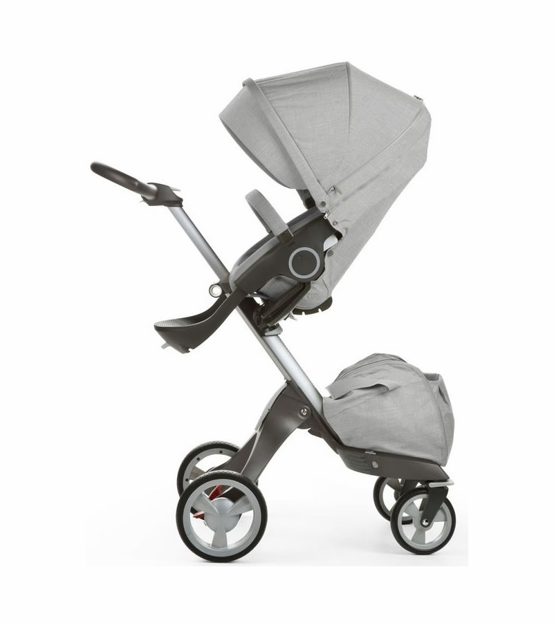stokke v5 xplory stroller grey melange. Black Bedroom Furniture Sets. Home Design Ideas