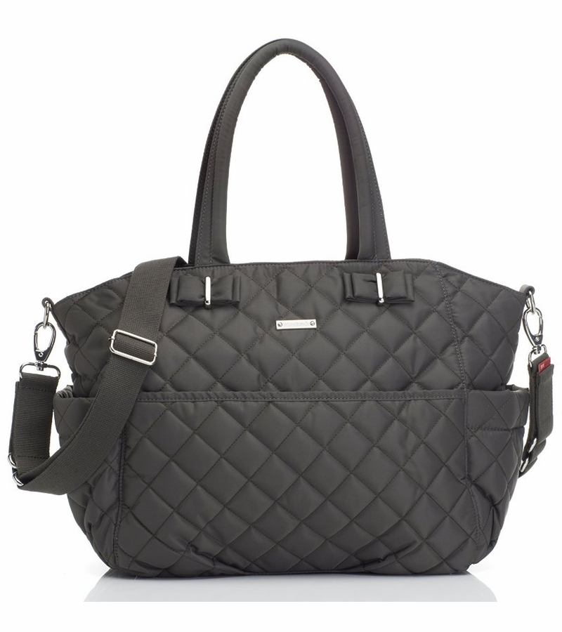 Storksak Bobby Quilted Diaper Bag - Charcoal : black quilted diaper bag - Adamdwight.com