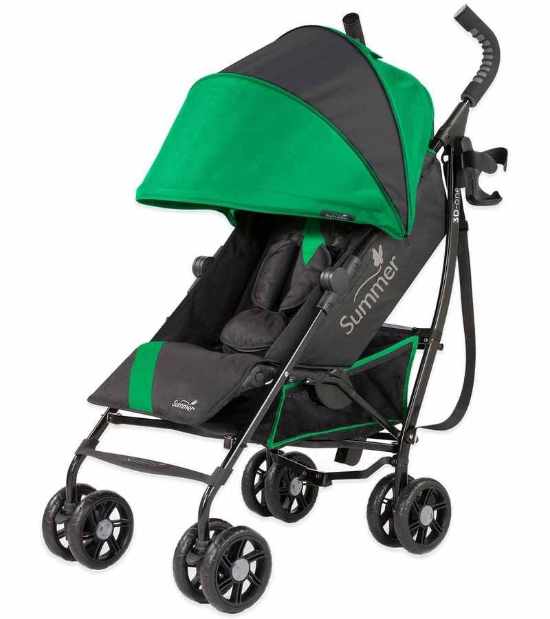 Summer Infant Products 3D-One Convenience Stroller In Brilliant Green Green/black Single
