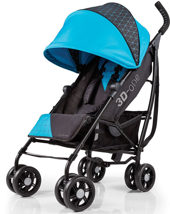 Summer Infant Products 3D One Stroller - Geometric Blue