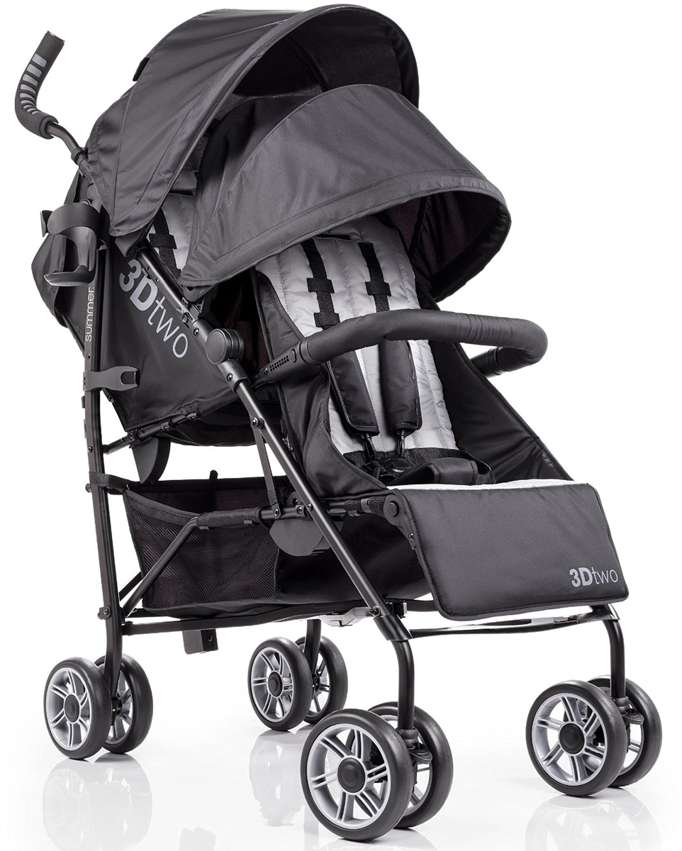 Summer Infant Products 3Dtwo Double Stroller - Black/Gray