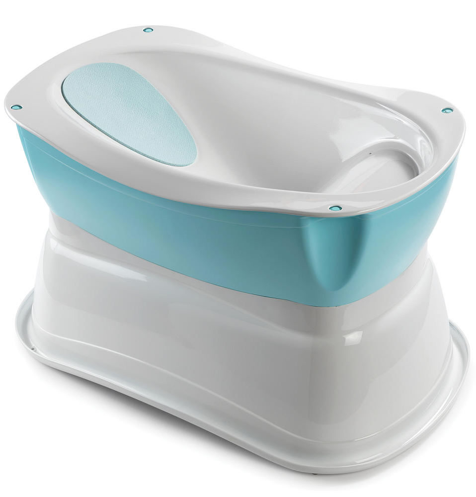 Summer Infant Deluxe Right Height Bath Tub - Blue