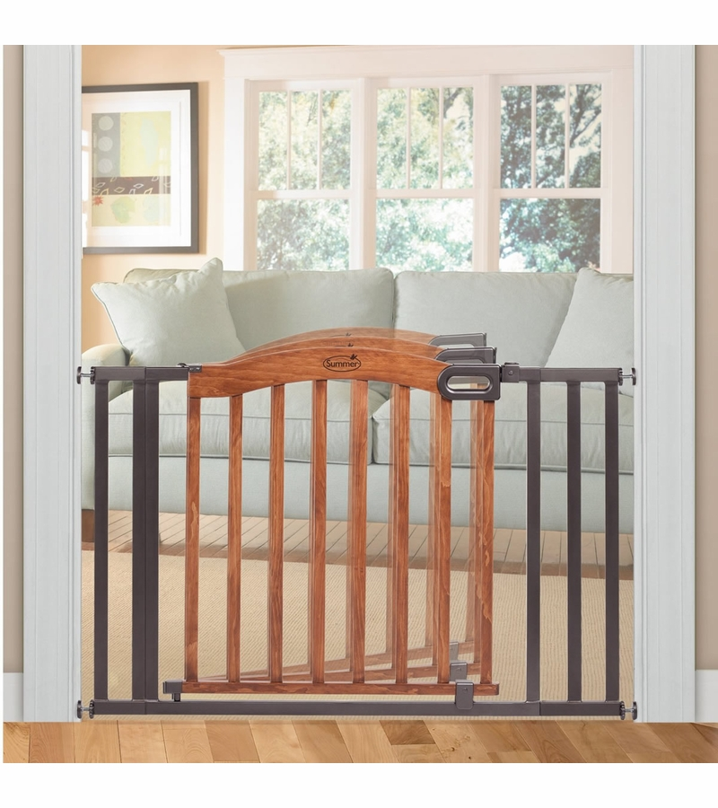 Ships Canada Us Wide Wood Sign: Summer Infant Extra Wide Wood & Metal Gate