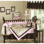 Sweet JoJo Designs Abby Rose 9 Piece Crib Bedding Set