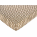 Sweet JoJo Designs All Star Sport Fitted Crib Sheet in Plaid Print